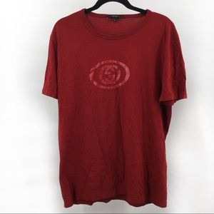 Authentic Gucci Logo Made Italy Dark Red T Shirt